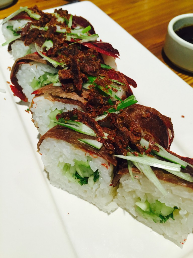 Biggest disappointment of the evening was the duck roll. Chewy, not crispy and kind of off-putting.