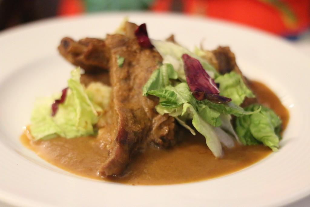 Pork w guayaba sauce