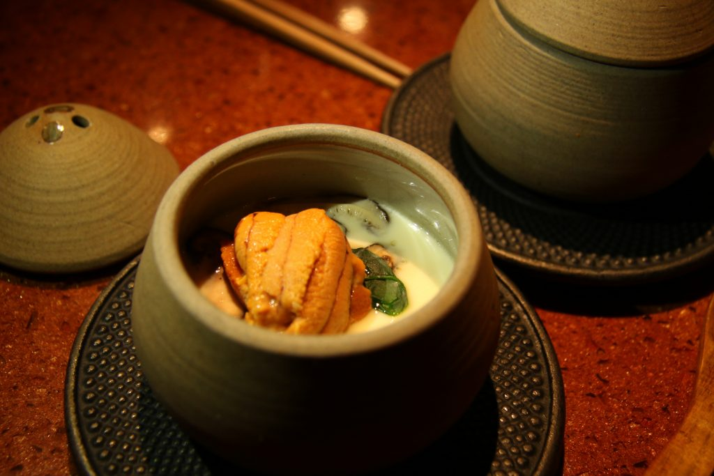 Seafood custard, sea urchin