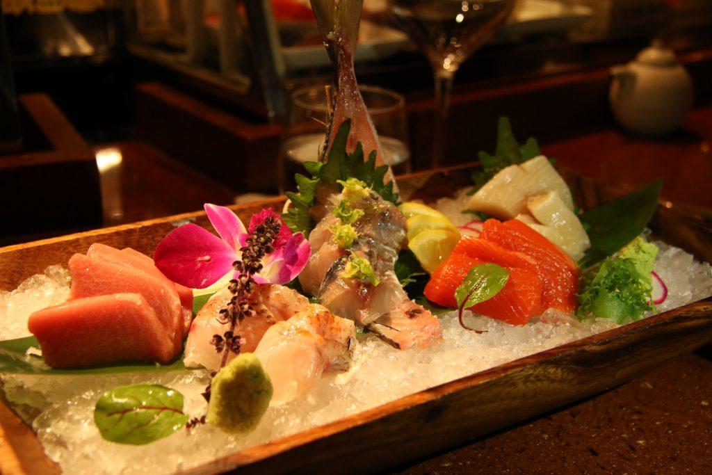 Massive sashimi platter