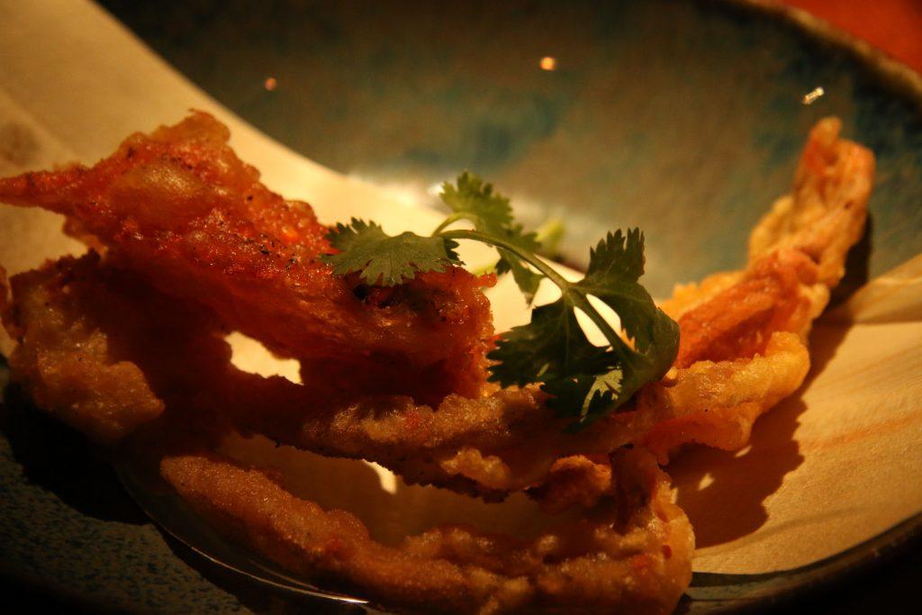 Crab, tempura style