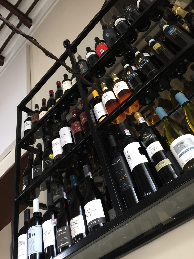 Wine rack overhead