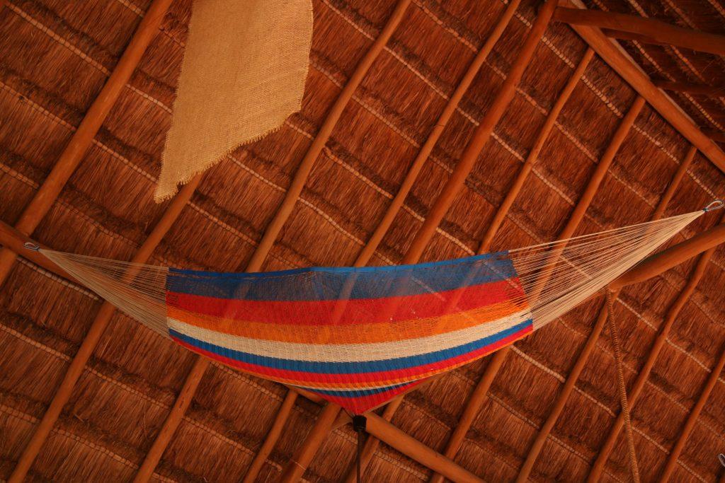 Hammocks make up part of  the decoration