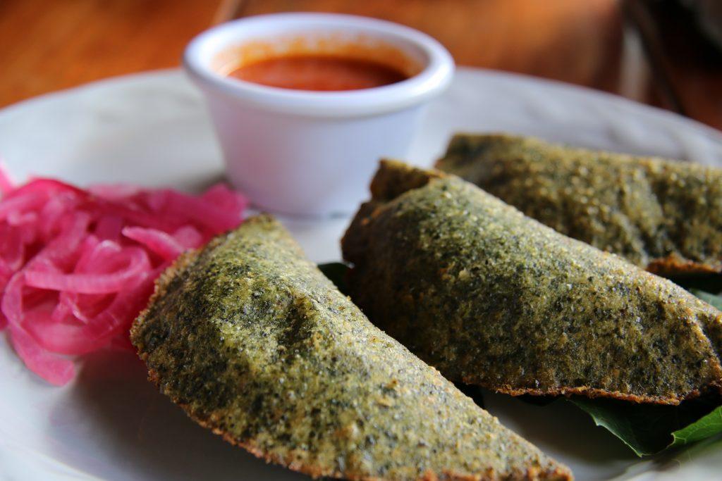 Empanadas w chaya corn stuffed w edam cheese